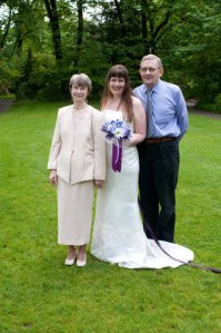 Renewal of vows: Me with my parents