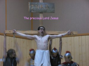 Eric, as Jesus, in The Passion Play. (the wording went with the ending slide show in He Made a Way Through a Manger)
