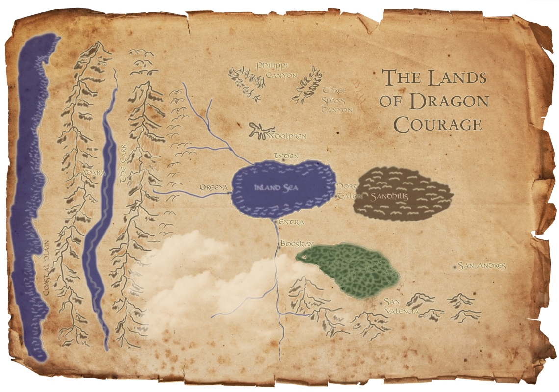 Map of the Dragon Courage series